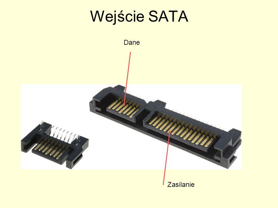 Wejście SATA Zasilanie Dane