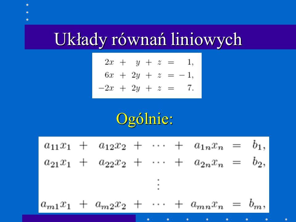 Eliminacja Gaussa m = 89/47