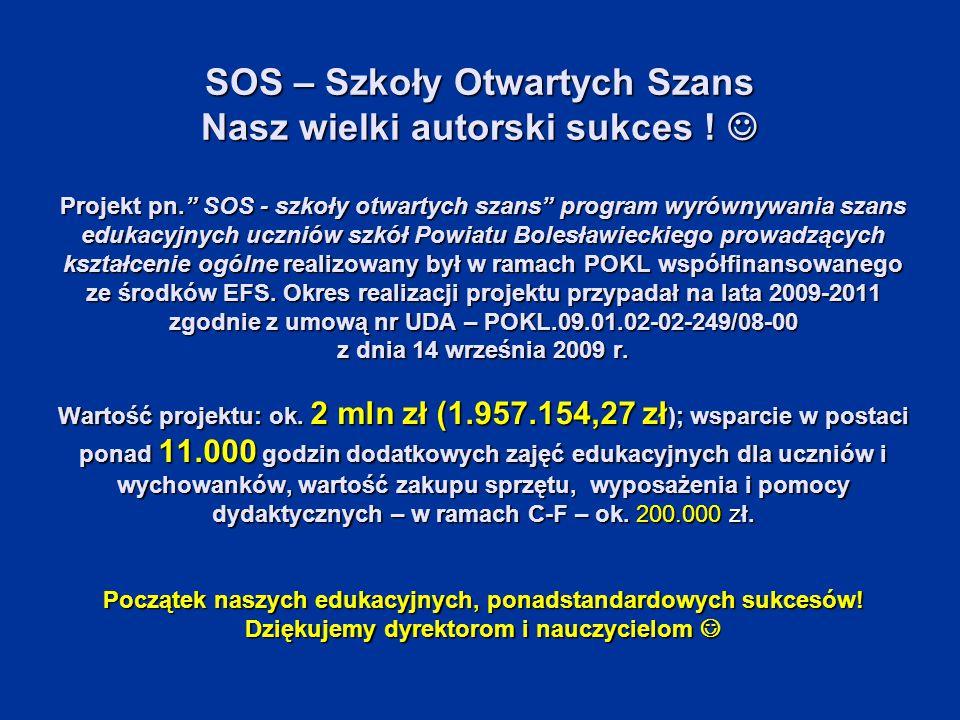 SOS – Szkoły Otwartych Szans Nasz wielki autorski sukces .