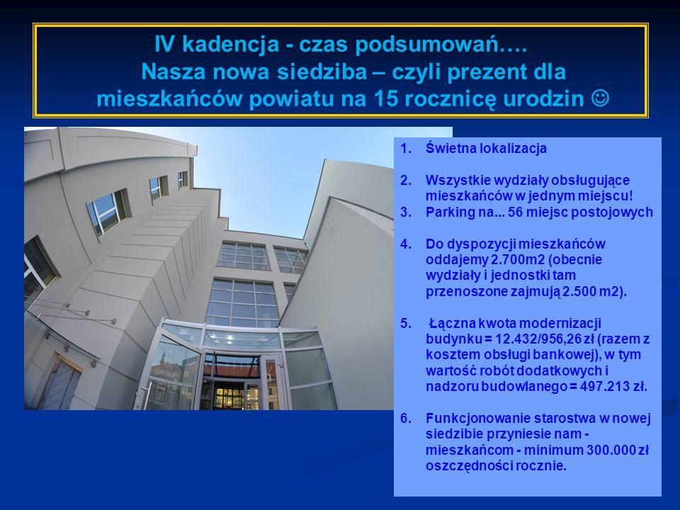 IV kadencja - czas podsumowań….