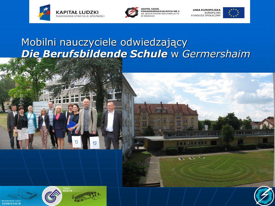 Mobilni nauczyciele odwiedzający Die Berufsbildende Schule w Germershaim