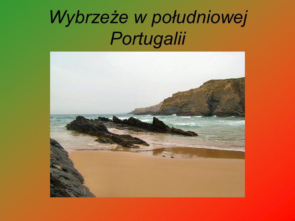Wybrzeże w południowej Portugalii
