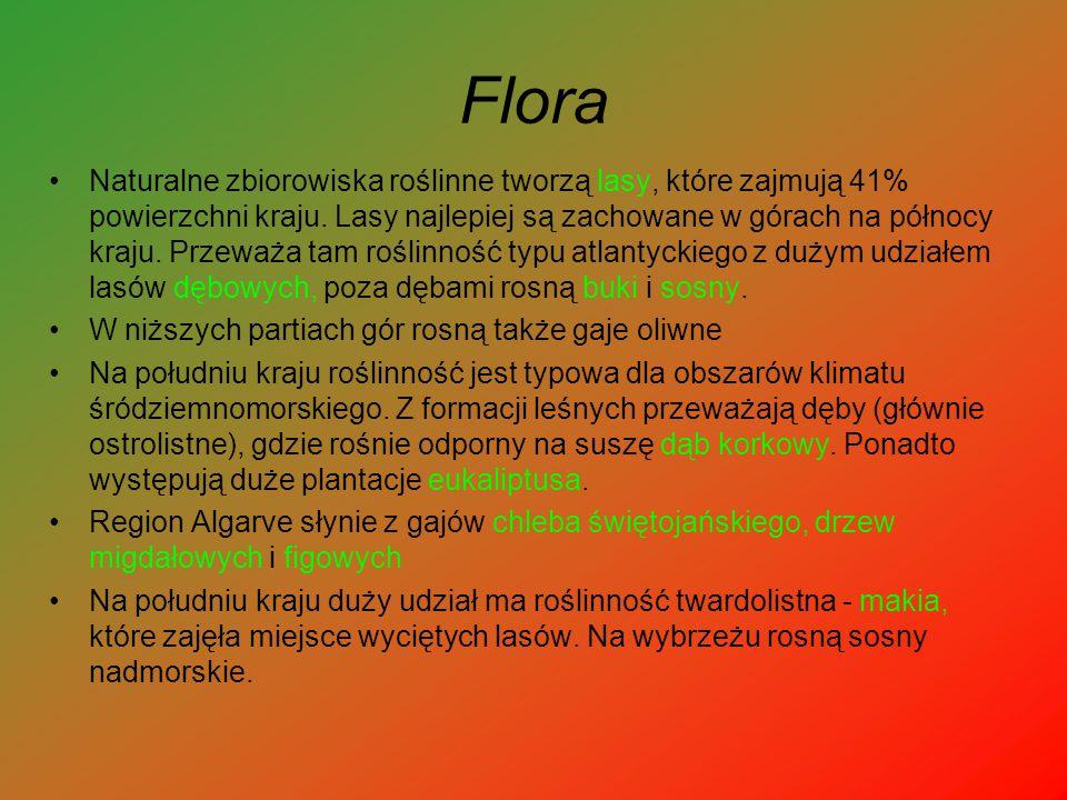Flora Naturalne zbiorowiska roślinne tworzą lasy, które zajmują 41% powierzchni kraju. Lasy najlepiej są zachowane w górach na północy kraju. Przeważa