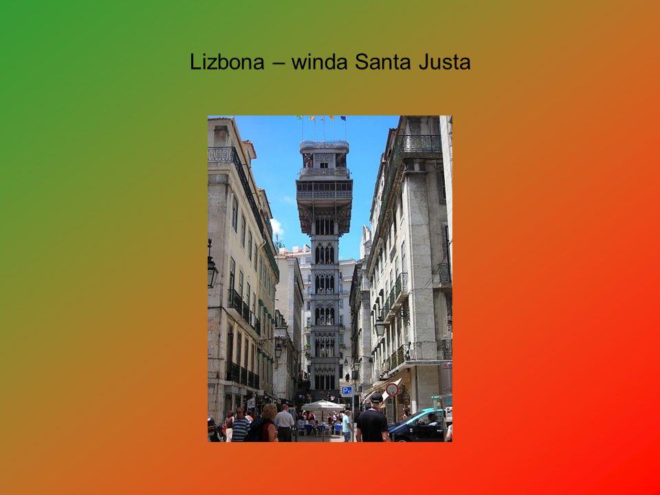 Lizbona – winda Santa Justa