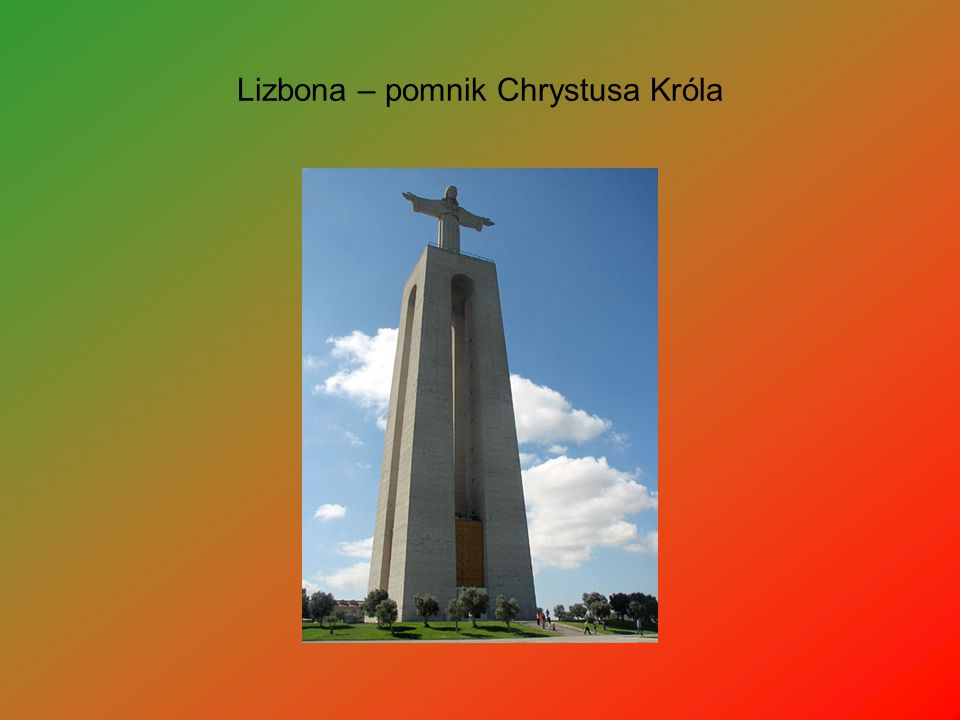 Lizbona – pomnik Chrystusa Króla