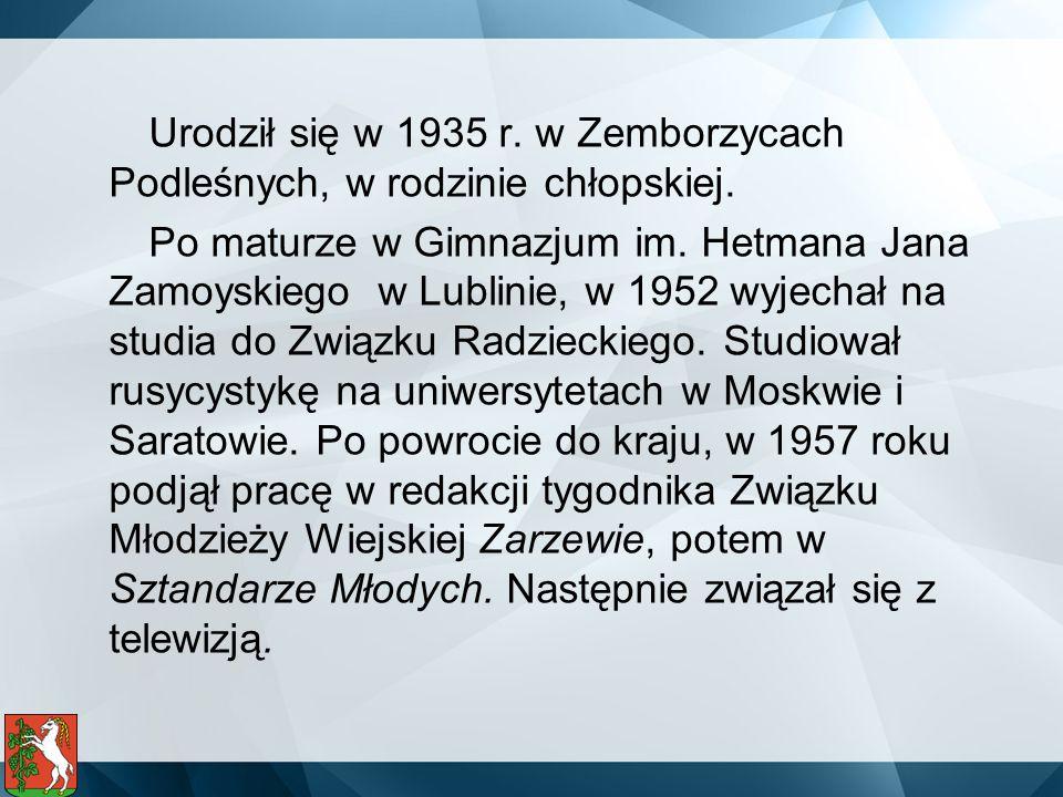Urodził się w 1935 r. w Zemborzycach Podleśnych, w rodzinie chłopskiej. Po maturze w Gimnazjum im. Hetmana Jana Zamoyskiego w Lublinie, w 1952 wyjecha