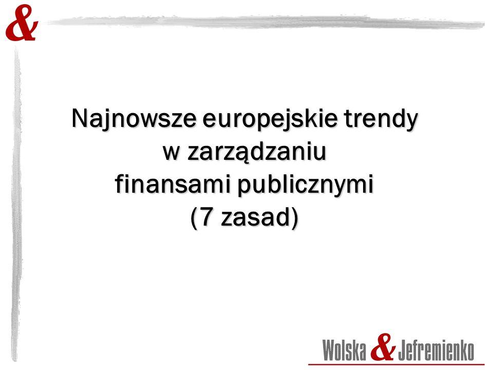Najnowsze europejskie trendy w zarządzaniu finansami publicznymi (7 zasad)
