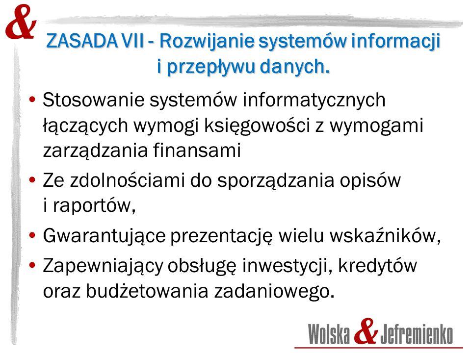 ZASADA VII - Rozwijanie systemów informacji i przepływu danych.