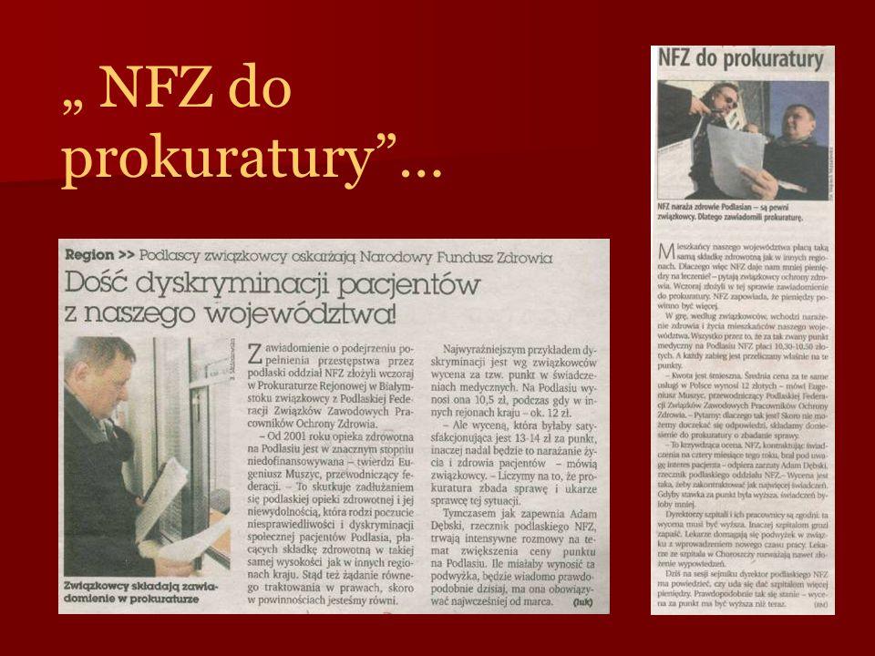 """ NFZ do prokuratury""…"
