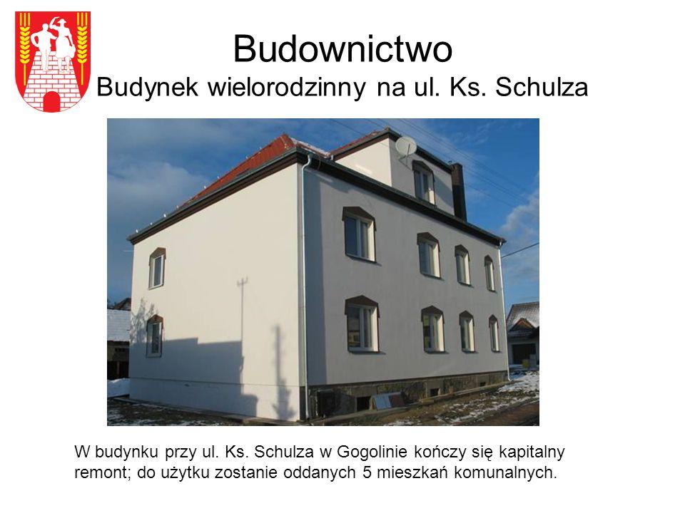 Budownictwo Budynek wielorodzinny na ul. Ks. Schulza W budynku przy ul.