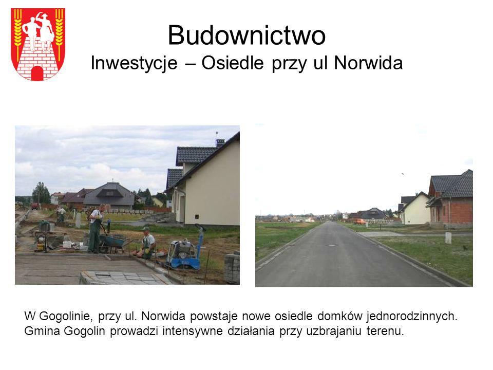 Budownictwo Inwestycje – Osiedle przy ul Norwida W Gogolinie, przy ul.
