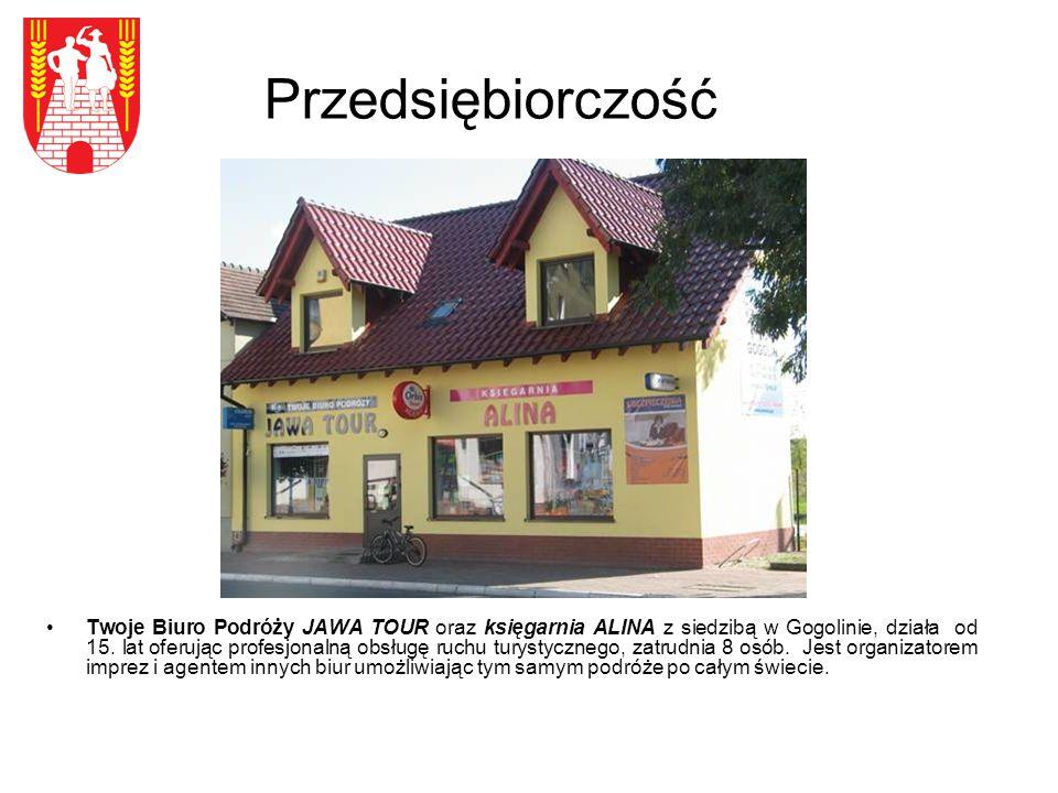 Przedsiębiorczość Twoje Biuro Podróży JAWA TOUR oraz księgarnia ALINA z siedzibą w Gogolinie, działa od 15.