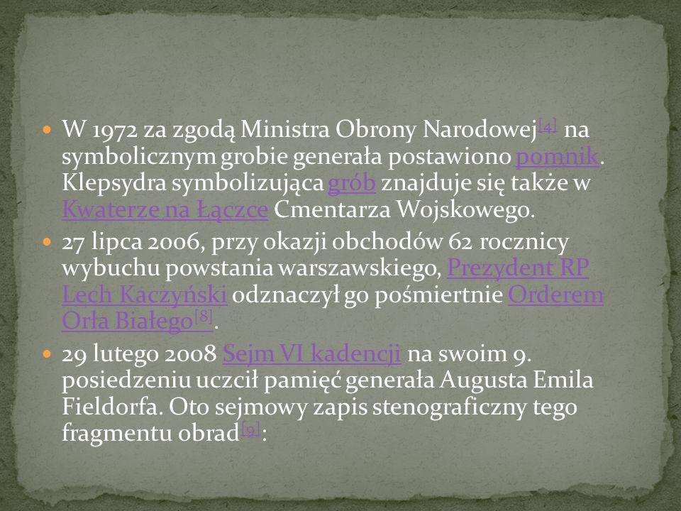 Śledztwo w sprawie mordu sądowego Śledztwo w sprawie mordu sądowego na gen. Fieldorfie zostało wszczęte w 1992 przez poprzednika IPN – Główną Komisję