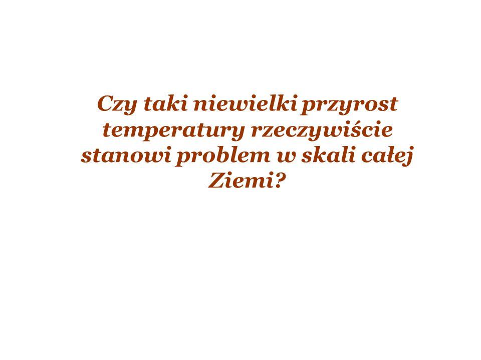 Czy taki niewielki przyrost temperatury rzeczywiście stanowi problem w skali całej Ziemi?