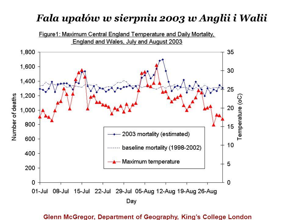 Fala upałów w sierpniu 2003 w Anglii i Walii Glenn McGregor, Department of Geography, King's College London