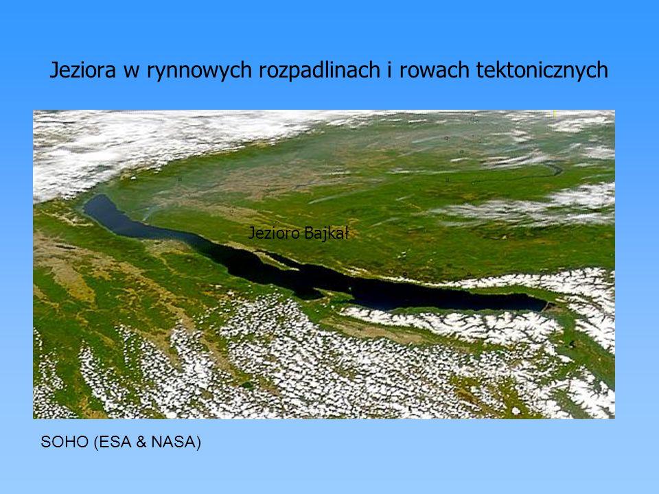Jeziora w rynnowych rozpadlinach i rowach tektonicznych Jezioro Bajkał SOHO (ESA & NASA)