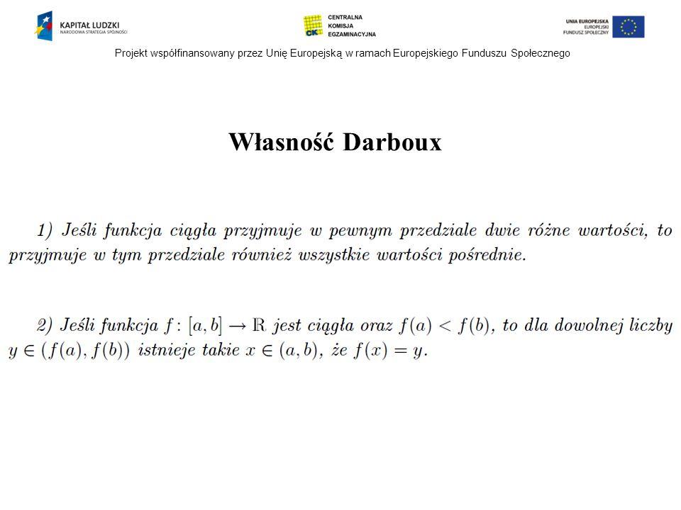 Projekt współfinansowany przez Unię Europejską w ramach Europejskiego Funduszu Społecznego Własność Darboux