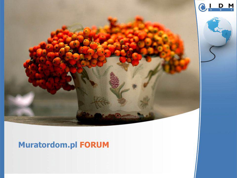 Forum MuratorDom.pl – charakterystyka Forum Muratora to wyjątkowa społeczność – osób wykształconych, młodych, przebojowych; to także największa społeczność specjalistów z branży budowlanej – od projektantów przez wykonawców do producentów.