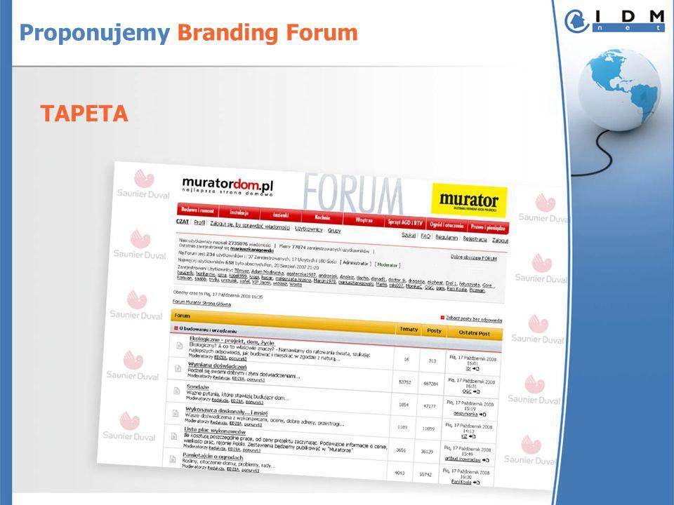Proponujemy Branding Forum TAPETA