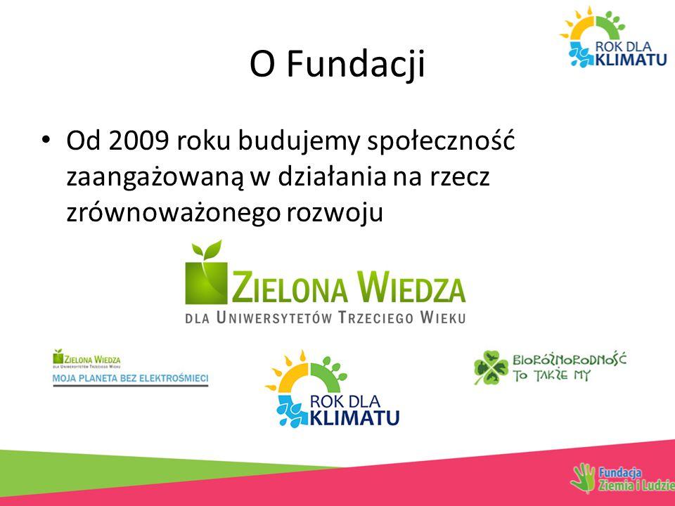 O Fundacji Od 2009 roku budujemy społeczność zaangażowaną w działania na rzecz zrównoważonego rozwoju