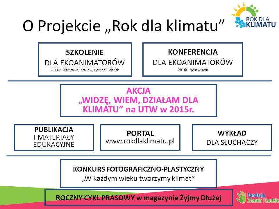 """O Projekcie """"Rok dla klimatu SZKOLENIE DLA EKOANIMATORÓW 2014 r."""