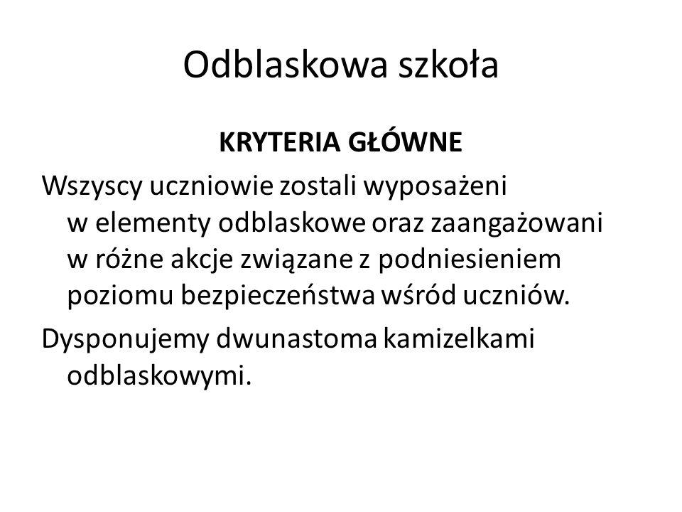 Odblaskowa szkoła Organizacja w trakcie trwania akcji ogólnoszkolnego konkursu plastycznego na temat bezpieczeństwa w ruchu drogowym W naszej szkole został zorganizowany konkurs plastyczny dla uczniów klas IV-VI pt.
