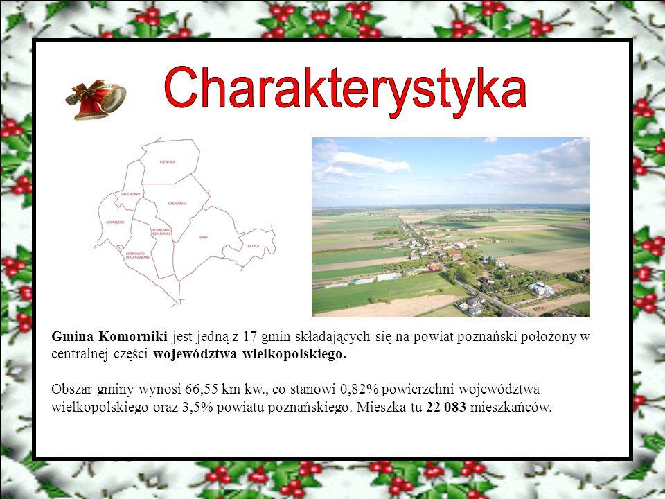 Gmina Komorniki jest jedną z 17 gmin składających się na powiat poznański położony w centralnej części województwa wielkopolskiego. Obszar gminy wynos
