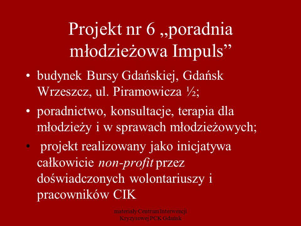 """Projekt nr 6 """"poradnia młodzieżowa Impuls"""" budynek Bursy Gdańskiej, Gdańsk Wrzeszcz, ul. Piramowicza ½; poradnictwo, konsultacje, terapia dla młodzież"""