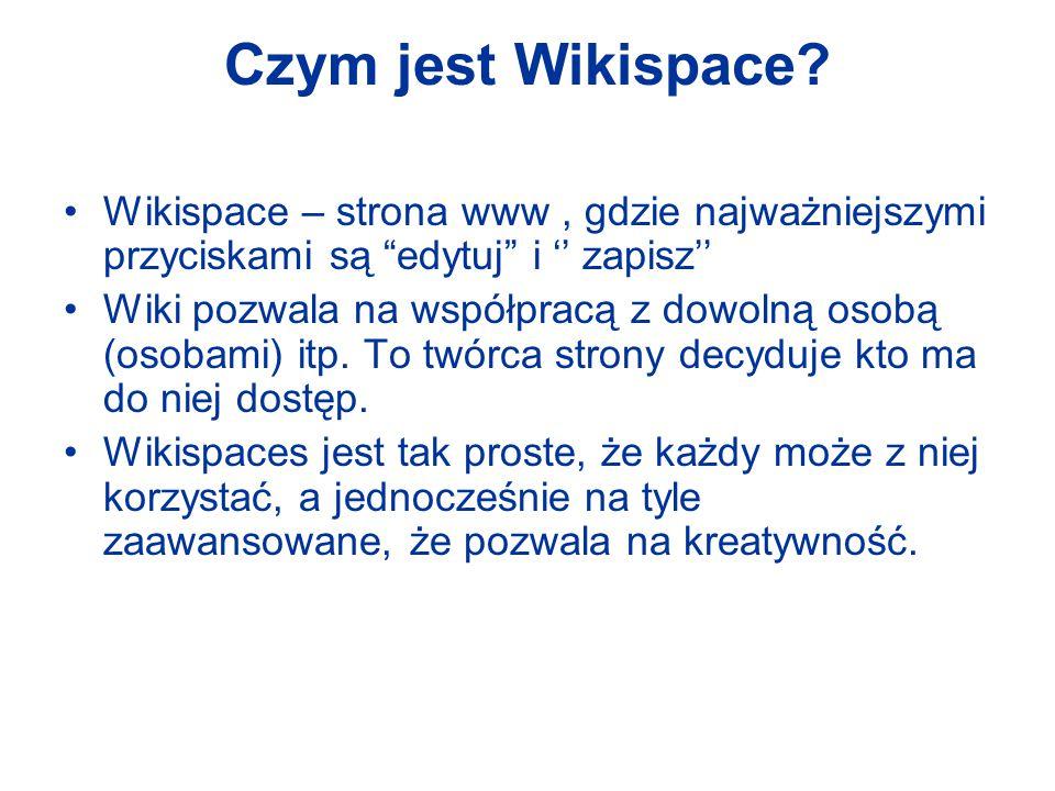 Czym jest Wikispace.