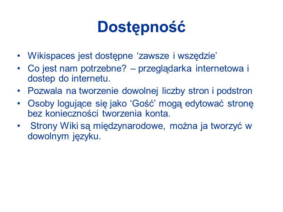 Jak utworzyć konto Wikispaces? Go to: www.wikispaces.comwww.wikispaces.com