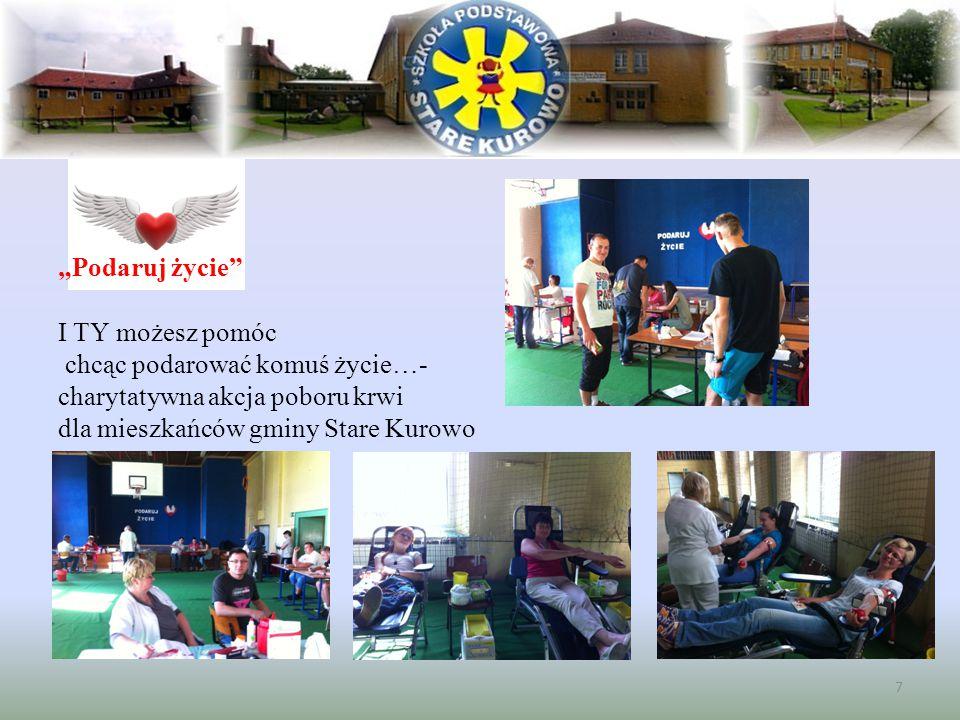 """""""Podaruj życie"""" I TY możesz pomóc chcąc podarować komuś życie…- charytatywna akcja poboru krwi dla mieszkańców gminy Stare Kurowo 7"""