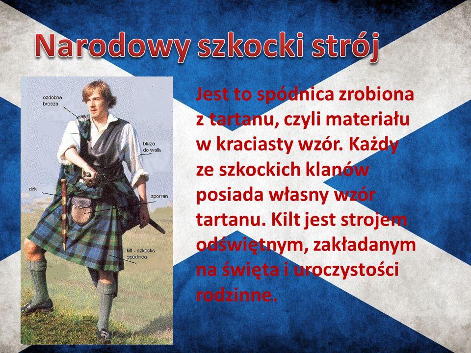 Jest to spódnica zrobiona z tartanu, czyli materiału w kraciasty wzór. Każdy ze szkockich klanów posiada własny wzór tartanu. Kilt jest strojem odświę