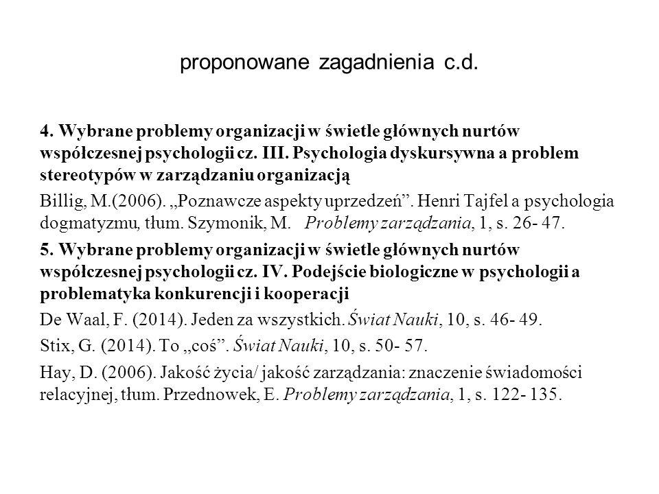 proponowane zagadnienia c.d.6.