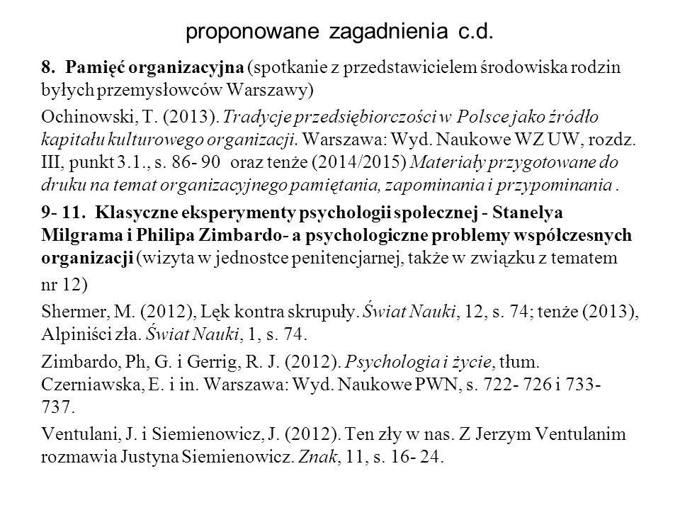 proponowane zagadnienia c.d.8.