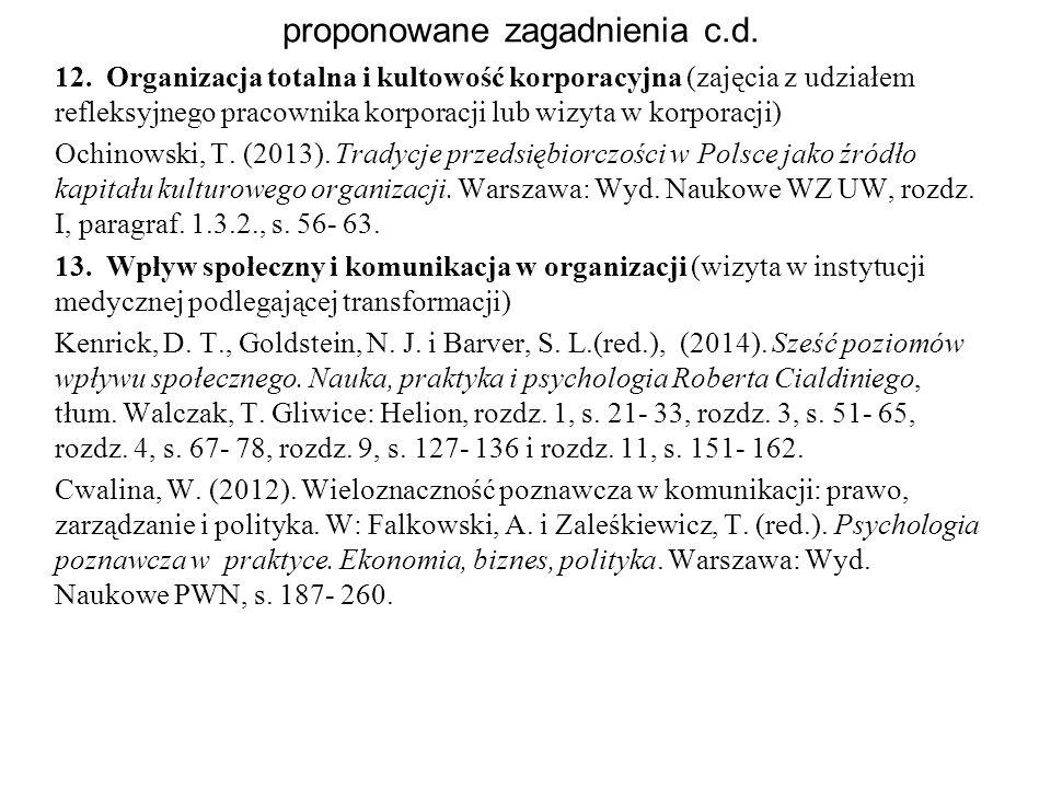 proponowane zagadnienia c.d.12.