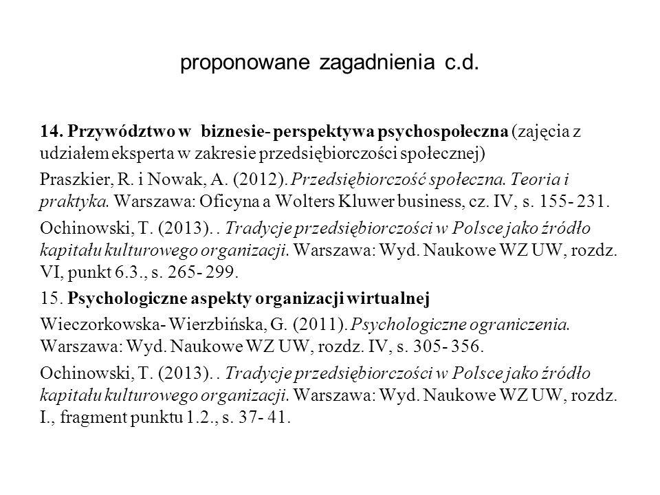proponowane zagadnienia c.d.14.