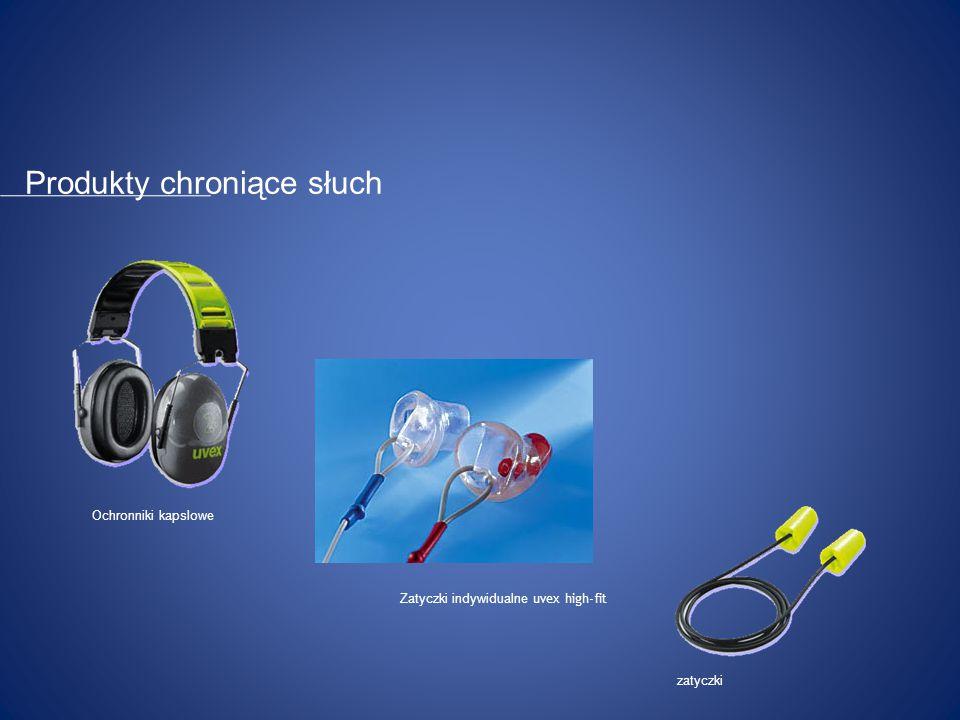 Ochronniki kapslowe zatyczki Zatyczki indywidualne uvex high-fit Produkty chroniące słuch