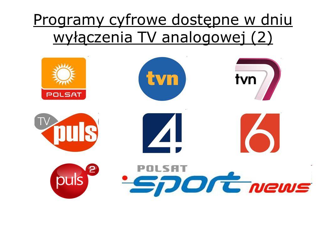 Programy cyfrowe dostępne w dniu wyłączenia TV analogowej (2)