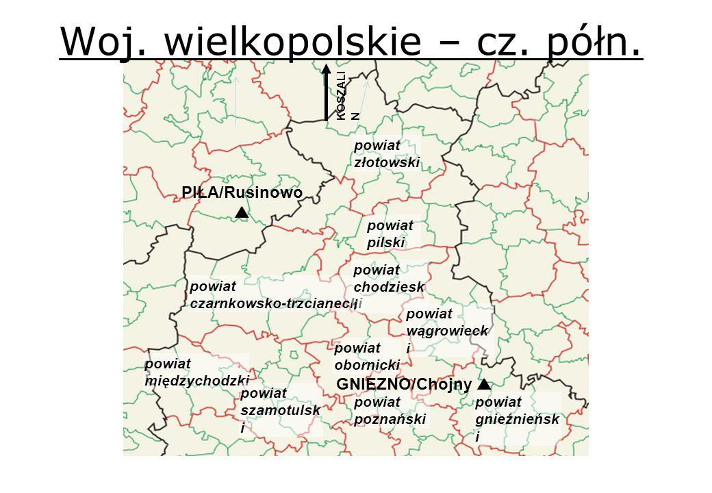 Woj. wielkopolskie – cz. półn. powiat obornicki powiat czarnkowsko-trzcianecki powiat chodziesk i powiat złotowski powiat międzychodzki powiat szamotu