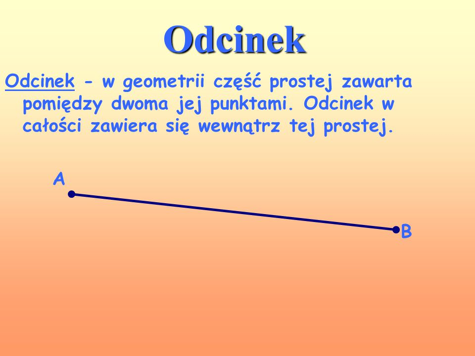 Półprosta Półprosta to jednowymiarowa figura geometryczna powstała przez przecięcie prostej w dowolnie wybranym punkcie, nazywanym początkiem półprost