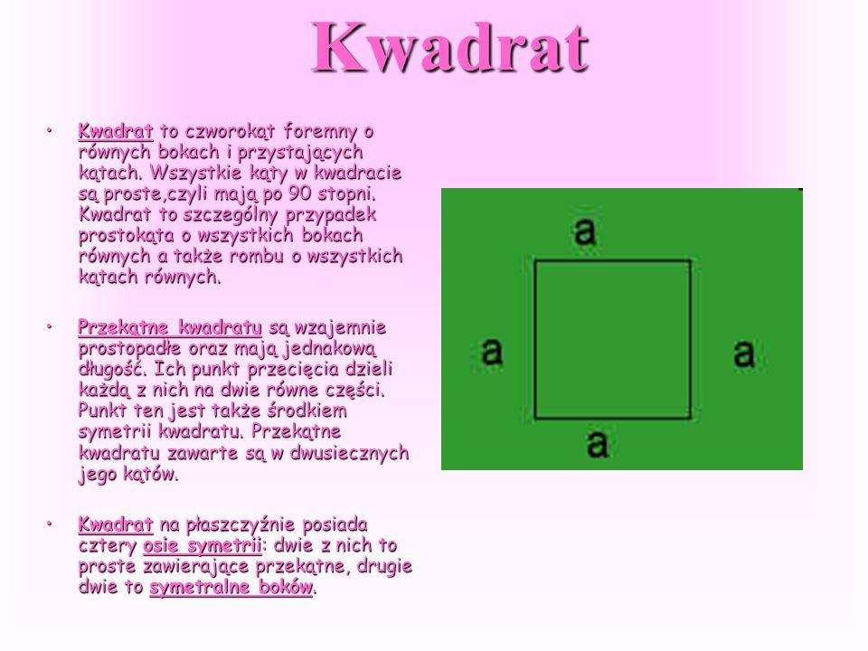 Figury przykładowe Prostokąt to figura geometryczna - czworokąt o wszystkich kątach prostych. Do miana prostokąta można zaliczać także kwadrat.Prostok
