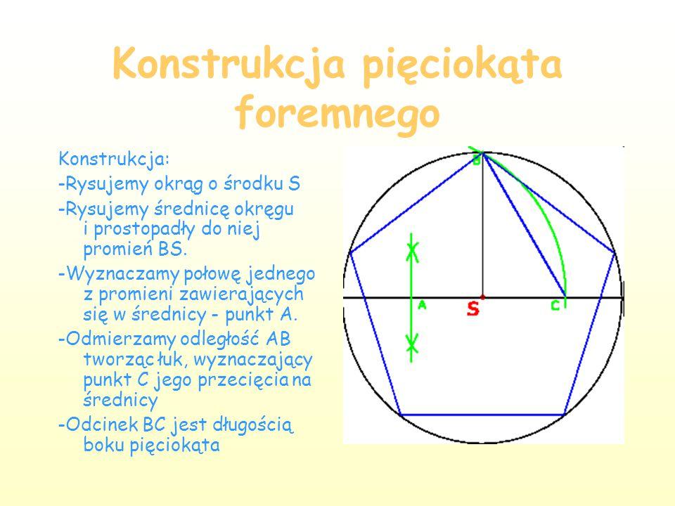 Pięciokąt Pięciokąt jest wielokątem o pięciu bokach i pięciu kątach wewnętrznych.