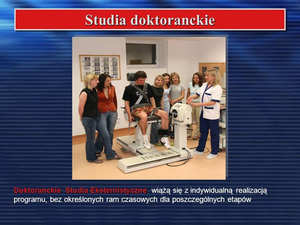 Studia doktoranckie Doktoranckie Studia Eksternistyczne Doktoranckie Studia Eksternistyczne wiążą się z indywidualną realizacją programu, bez określon