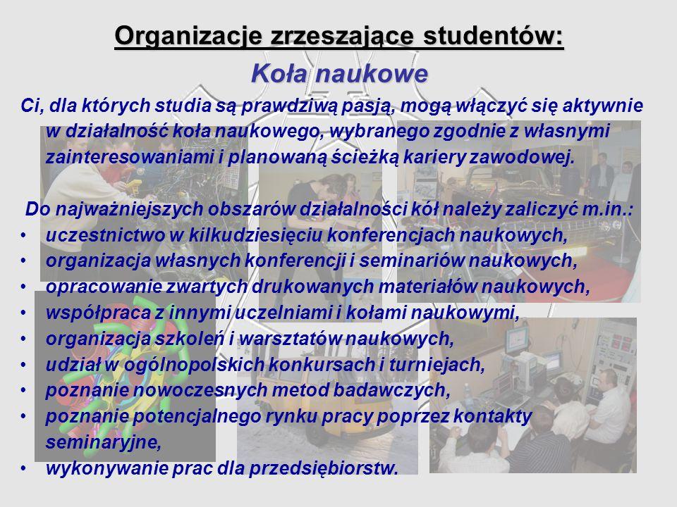 Organizacje zrzeszające studentów: Koła naukowe Ci, dla których studia są prawdziwą pasją, mogą włączyć się aktywnie w działalność koła naukowego, wyb