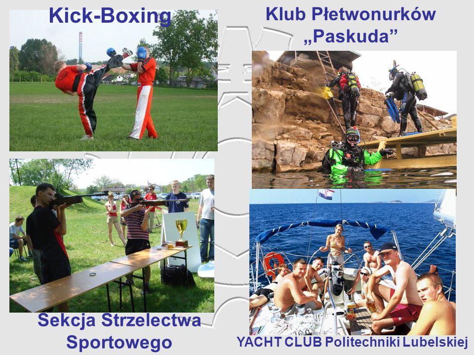 """Kick-Boxing YACHT CLUB Politechniki Lubelskiej Sekcja Strzelectwa Sportowego Klub Płetwonurków """"Paskuda"""""""