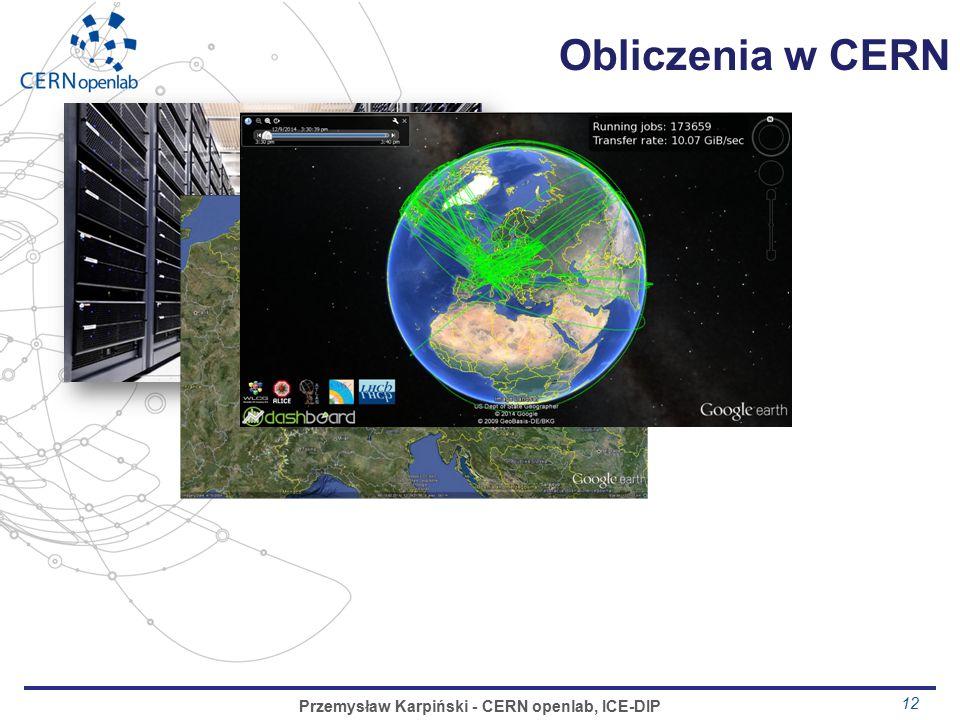 Obliczenia w CERN 12 Przemysław Karpiński - CERN openlab, ICE-DIP