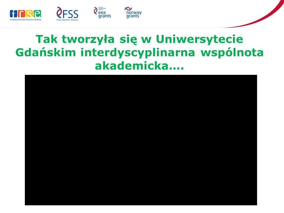 Tak tworzyła się w Uniwersytecie Gdańskim interdyscyplinarna wspólnota akademicka….