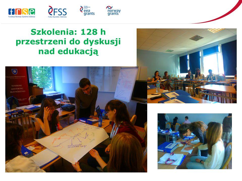 Szkolenia: 128 h przestrzeni do dyskusji nad edukacją