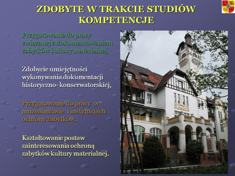 SZANSE NA RYNKU PRACY Wraz z wejściem Polski do Unii Europejskiej wzrasta zainteresowanie ochroną dziedzictwa kulturowego kraju.