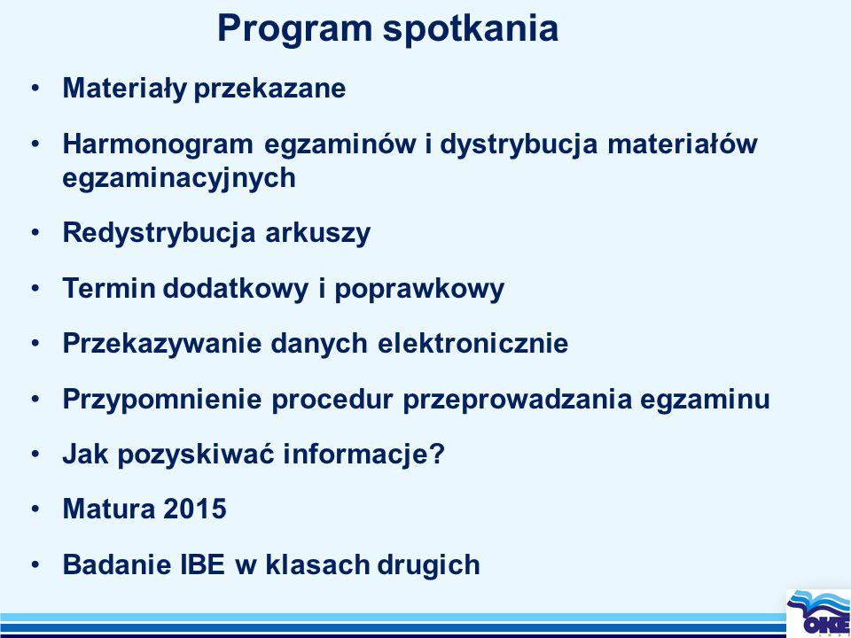 Materiały przekazywane w dniu dzisiejszym:  Zestawy na egzamin ustny (zespoły szkół otrzymują 1 pakiet na każdy język), w tym materiały do rozmowy wstępnej.